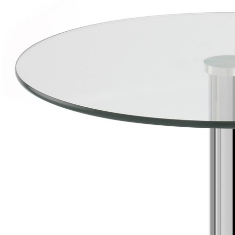 Becky 100cm Clear Cafe Table