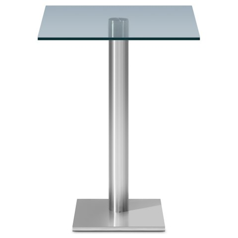 Le Monde Square Bar Table Glass