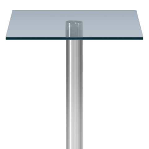 ... Le Monde Square Bar Table Glass ...