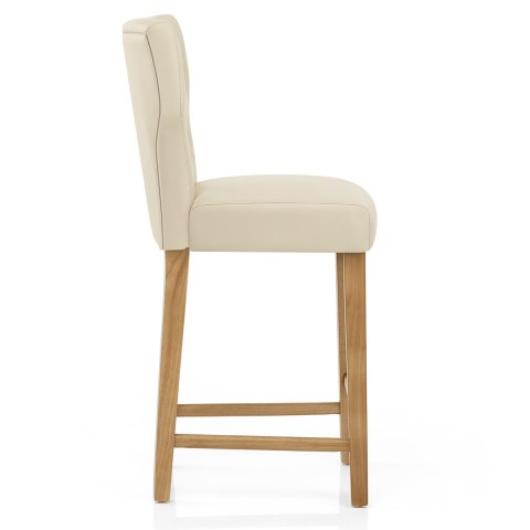 Clifton Oak Bar Stool Cream