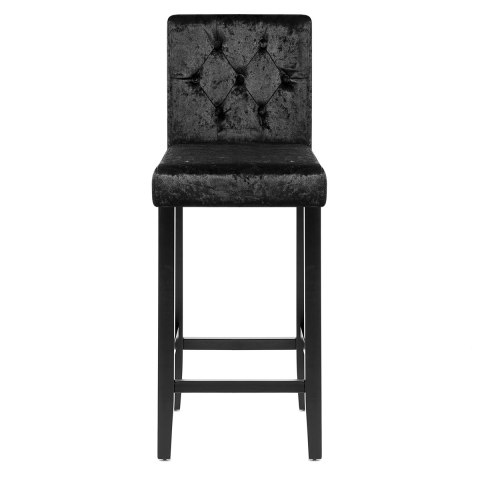 Brookes Bar Stool Black Velvet