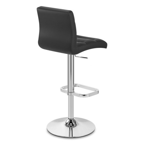 Lush Chrome Stool Black