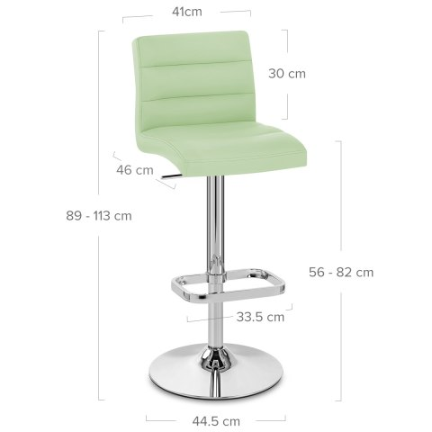 Lush Chrome Stool Green