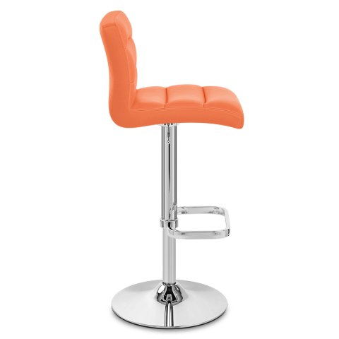 Lush Chrome Stool Orange