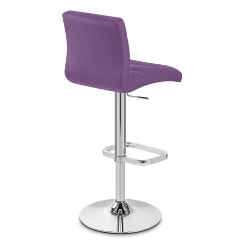 Lush Chrome Stool Purple