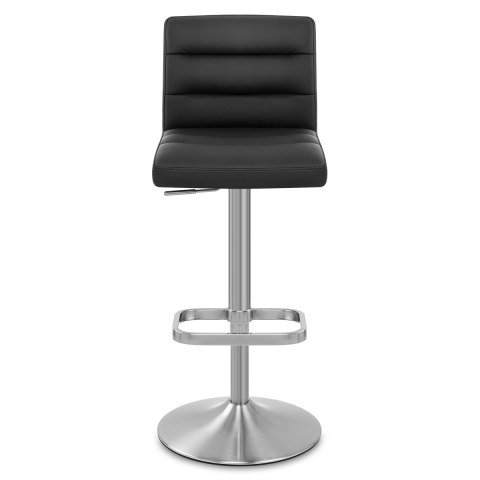 Lush brushed steel bar stool black atlantic shopping for Chaise haute de bar