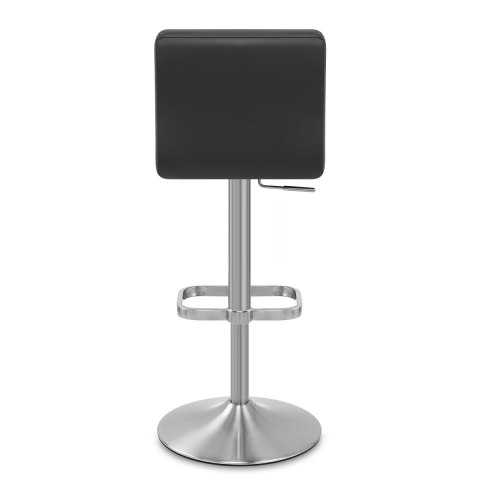 Lush Brushed Steel Bar Stool Black