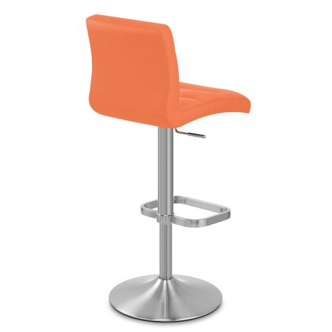Lush Brushed Steel Bar Stool Orange Atlantic Shopping