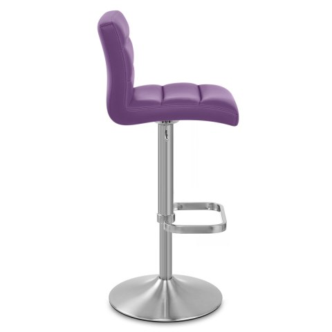 Lush Brushed Steel Bar Stool Purple