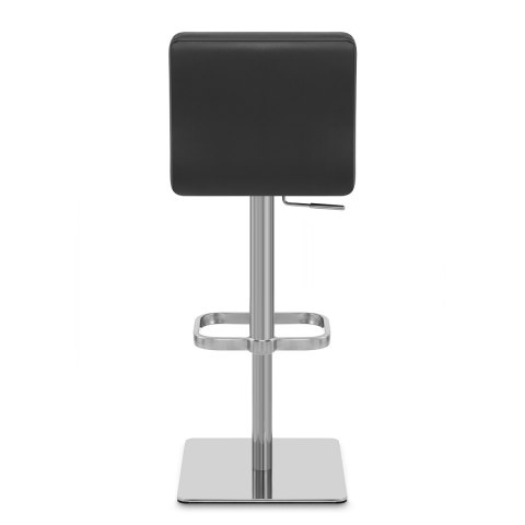 Lush Real Leather Brushed Stool Black