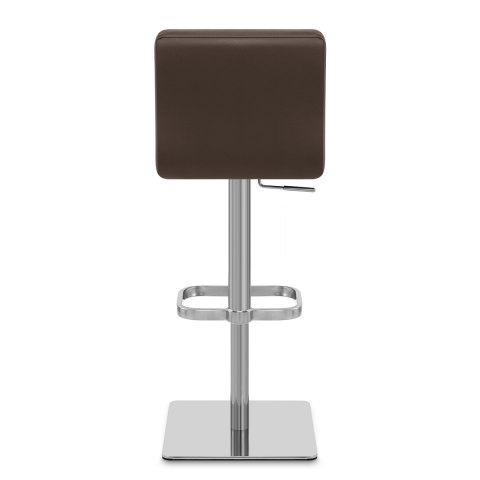 Lush Real Leather Brushed Stool Brown