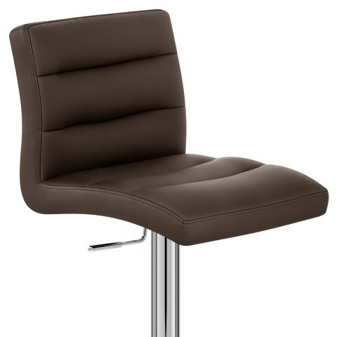 Lush Chrome Stool Brown