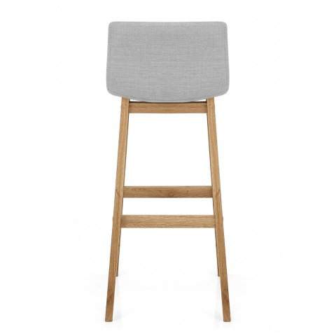 Drift Oak & Light Grey Fabric Stool