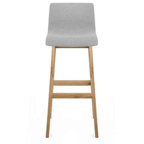 Drift Oak Amp Light Grey Fabric Stool Atlantic Shopping