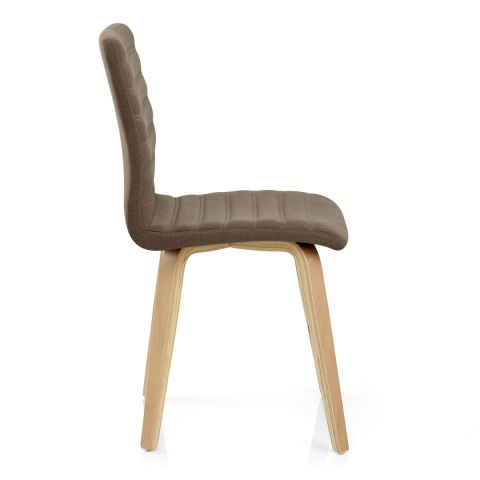 Lorna Dining Chair Oak & Brown
