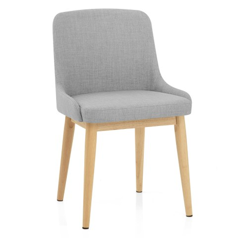 Jersey Dining Chair Oak Amp Light Grey Atlantic Shopping
