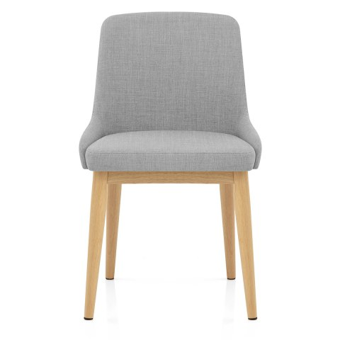 Jersey Dining Chair Oak & Light Grey Atlantic Shopping