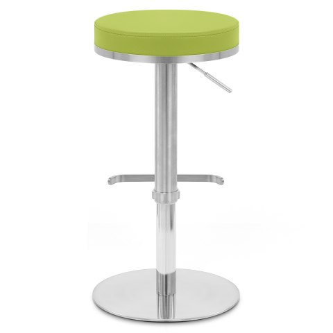 Oracle Brushed Steel Stool Green
