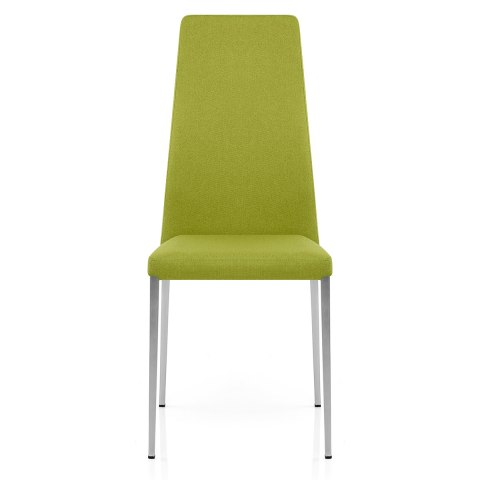 Faith Brushed Chair Green Fabric