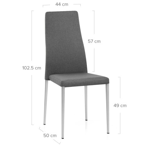 Faith Brushed Chair Grey Fabric
