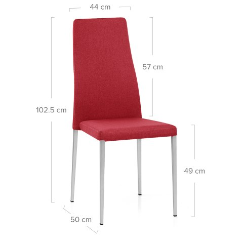 Faith Brushed Chair Red Fabric