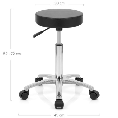 Swivel Stool With Wheels Black