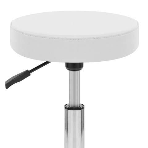 Swivel Stool With Wheels White