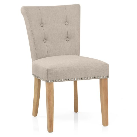 buckingham dining chair oak & tweed fabric - atlantic shopping