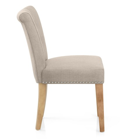 Buckingham Dining Chair Oak Amp Tweed Fabric Atlantic Shopping