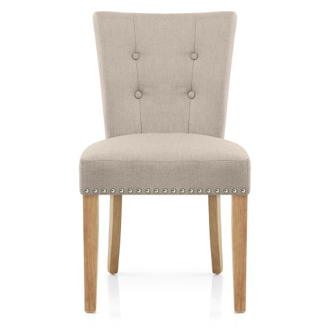 Buckingham Dining Chair Oak Amp Tweed Fabric Atlantic Shopping