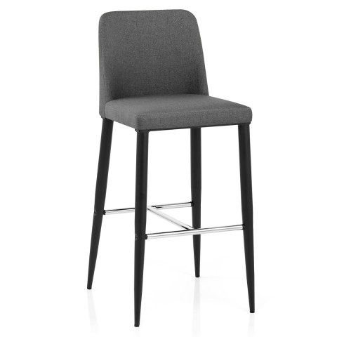 Morgan Kitchen Stool Grey Fabric
