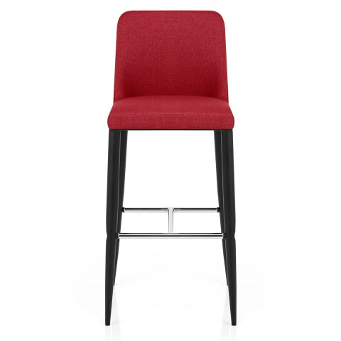Morgan Kitchen Stool Red Fabric