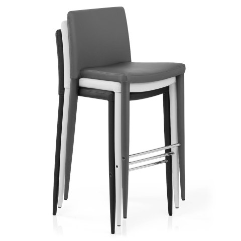 Healey Kitchen Stool Dark Grey - Atlantic Shopping