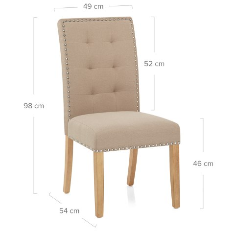 Arlington Dining Chair Beige Fabric