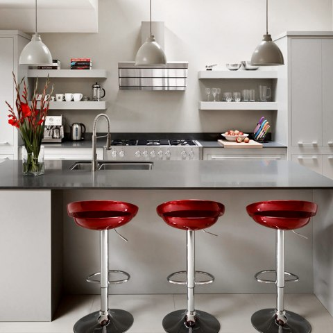 ... Crescent Bar Stool Red ...