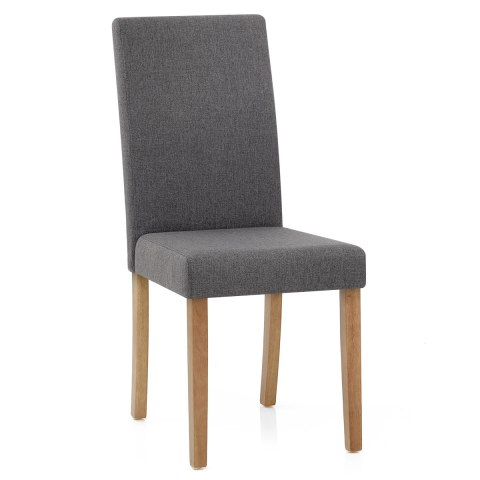 Columbus Oak Dining Chair Charcoal
