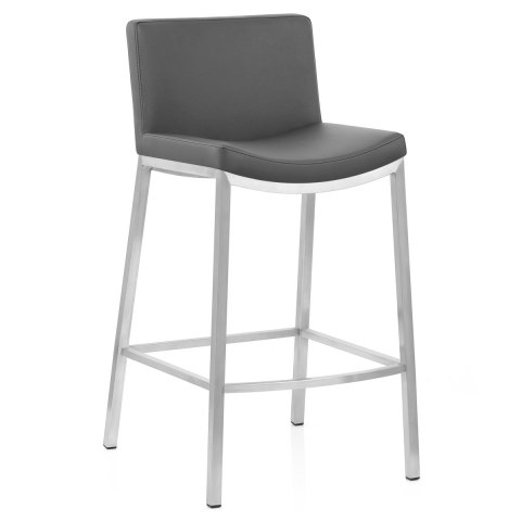 Capone Brushed Steel Stool Grey