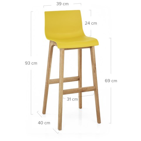 Drift Oak & Yellow Bar Stool