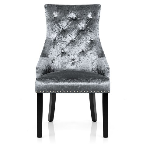 Ascot Dining Chair Grey Velvet Atlantic Shopping