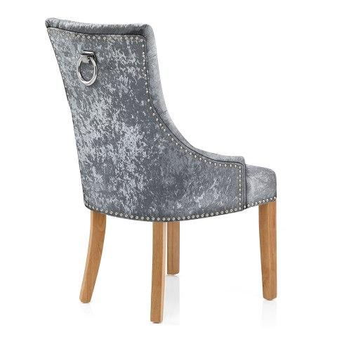 ascot oak dining chair grey velvet - atlantic shopping