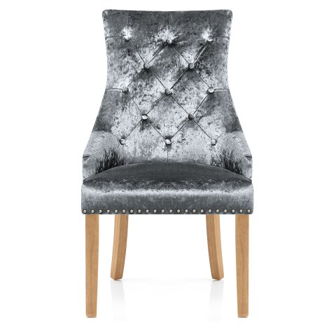 Ascot Oak Dining Chair Grey Velvet Atlantic Shopping