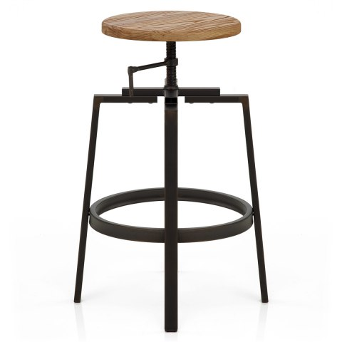 Industrial Turner Stool Light Wood Atlantic Shopping