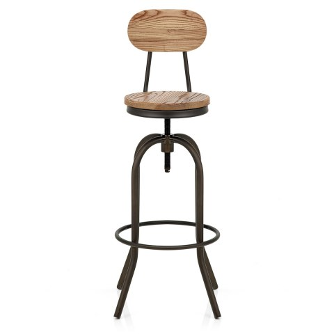 Vintage Swivel Stool Light Wood