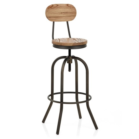 vintage swivel stool light wood atlantic shopping. Black Bedroom Furniture Sets. Home Design Ideas