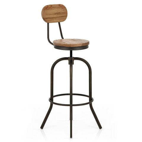 vintage swivel stool light wood atlantic shopping. Black Bedroom Furniture Sets. Home Design Ideas