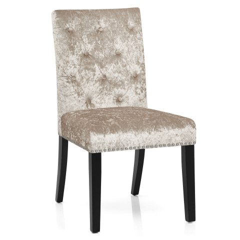 Barrington Dining Chair Beige Velvet