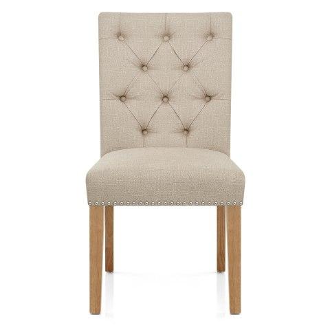 Barrington Oak Dining Chair Cream Fabric Atlantic Shopping