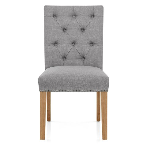 barrington oak dining chair grey fabric atlantic shopping