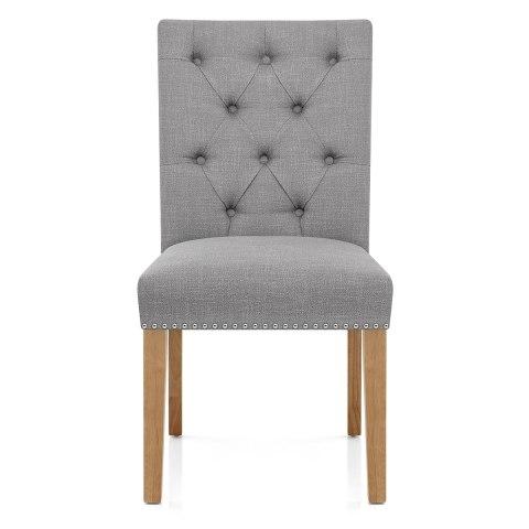 Barrington Oak Dining Chair Grey Fabric Atlantic Shopping