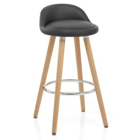 Jive Wooden Stool Grey
